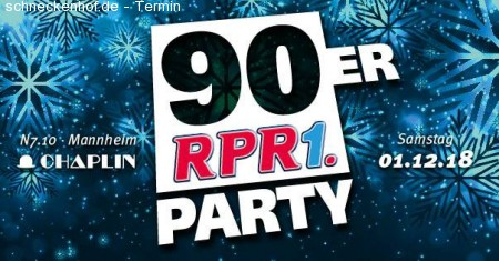 RPR1. 90ER Party Werbeplakat