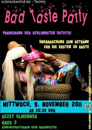 Bad Taste Party Werbeplakat